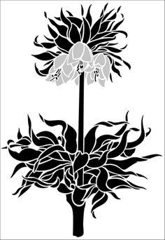 Crown Imperial stencil from The Stencil Library GARDEN ROOM range. Buy stencils online. Stencil code GR44.