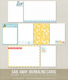 Sail Away Journaling Cards (Digital)