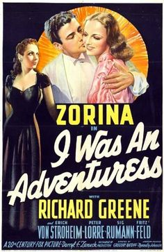 Richard Greene and Vera Zorina in I Was an Adventuress (1940)