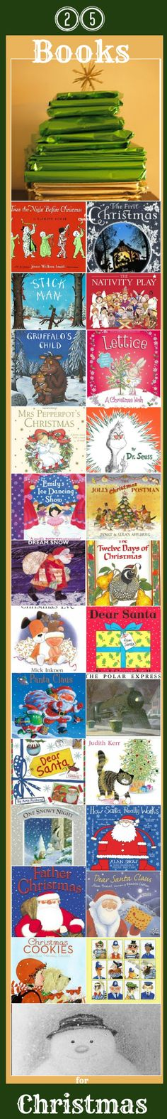 25 Christmas books for kids. Perfect for ADVENT create a FUN alternative advent countdown with a festive book every day.