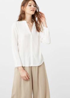 Bluzka z naszyjnikiem - Koszule dla Kobieta | OUTLET Polska