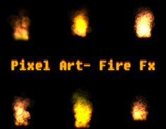 """Check out new work on my @Behance portfolio: """"Pixel Art Fire Effects"""" http://on.be.net/1OVJkov"""