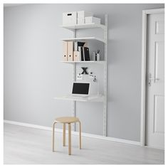 ALGOT Wall upright/shelves White 65x60x196 cm - IKEA