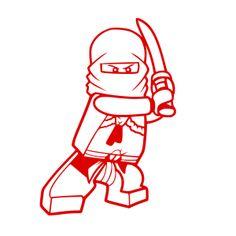 Muurstickers Lego Ninjago 2016