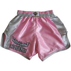 Pantal/ón corto de kick boxing modelo Muay Thai LUM-017 de la marca Lumpinee