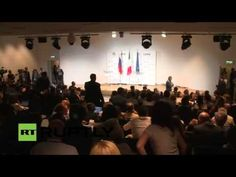 Putin & Italian PM Renzi hold presser following Milan Expo meet up - YouTube