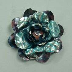 Gorgeous DIY metal flower colored with ink
