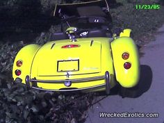 Panoz Roadster crashed in Oakland, California