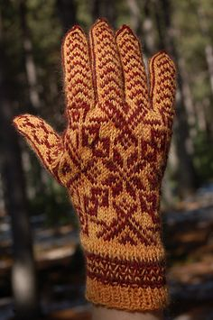 A Selbu inspired color work glove pattern.