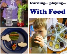 How to play and learn... with your food, a collection of activities for kids.