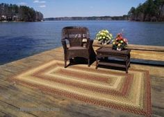 Ultra Durable Indoor/Outdoor Primitive Country Rugs.  Like us on Facebook!  www.facebook.com/allysonsplacedecor / #Primitive #Country #Cabin #Stain #HomeSpice