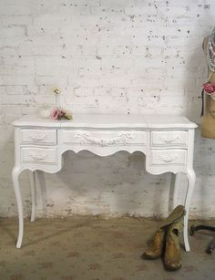 Painted Cottage Chic Shabby Romantic Vanity by paintedcottages