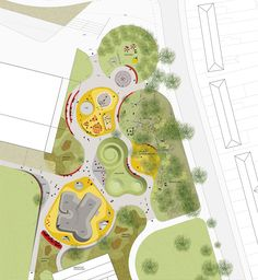 Image result for master plan pedestrian path shape design