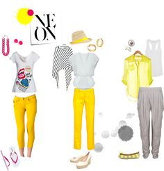 """""""Neon Yellow"""" by pitoti on Polyvore"""