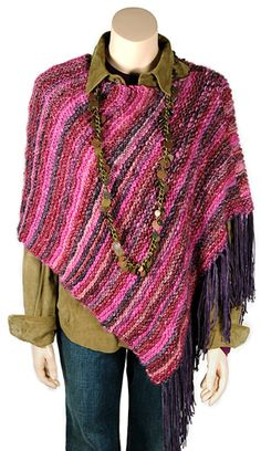 Simple poncho pattern...possibly the easiest pattern in the known universe!
