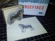Undefined Stamp kit by Stampin' Up!; Malamute carved by Blair Moch