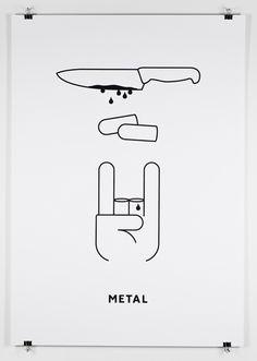 metal music poster