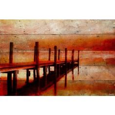 Overstock.com is proud to donate all profits from Worldstock Fair Trade purchases to Charity. Shop Worldstock for everyday discount prices and everyday free shipping over $50*. Save on Parvez Taj - 'Sunset Dock' Painting Print on Reclaimed Wood