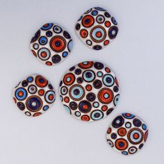Cool Bubbles - White, Blue, Red by golemstudio on Etsy