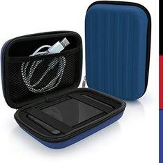 50% OFF! iGadgitz Blue EVA Hard Travel Case Cover for Transcend Storejet Portable External Hard Drives
