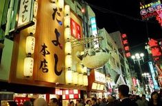 Calle comercial Dotombori en Osaka.