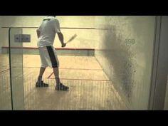 Squash Solodrill 3: improve your deep backwall shots using a bouncier ball - YouTube