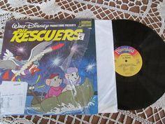 Walt Disney Vinyl Record Album The Rescuers Vintage Childrens Album Soundtrack for Turntable Record Player. $15.00, via Etsy.