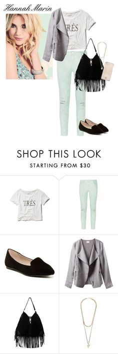 """""""Pretty Little Liars Hannah Marin"""" by kaitarnold ❤ liked on Polyvore featuring Abercrombie & Fitch, J Brand, ALDO, EAST, New Look, Givenchy and Tory Burch"""