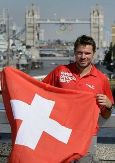 This goes out to Vance: Here's Switzerland's second best tennis player, Stanislas Wawrinka.