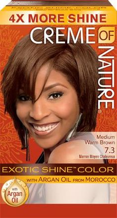 CREME OF NATURE EXOTIC SHINE COLOR WITH ARGAN OIL - 7.3 - MEDIUM WARM BROWN