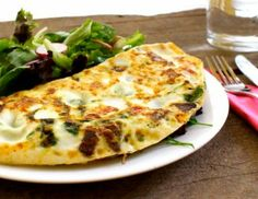 Swiss Chard and Red Onion Omelette by Eat Spin Run Repeat