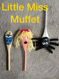 #Littlemissmuffet #nurseryrhymes #kidscraft #woodenspooncraft #craft #puppets #storytime #spoons #kids #story #school I made these for the 4 and 5 year olds at my local school