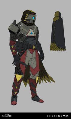 Destiny Curse of Osiris Concept Art by Ryan Gitter Game Character Design, Character Concept, Character Art, Cyberpunk, Destiny Game, Destiny Hunter, Concept Art World, Space Fantasy, Armor Concept