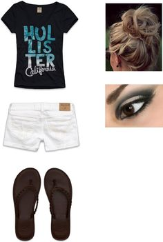 """Hollister Clothes"" by directionerrighthere123 ❤ liked on Polyvore"