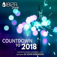 Ibiza BGC cordially invites you to a night of non-stop entertainment to celebrate the year that was, and the year to come!  Featuring DJ John Robinson The Ibiza Showteam Pop Culture Band  Watch as the sky illuminates with an amazing view of the BGC skyline and witness a special surprise from Ibiza BGC, exclusively for our guests!   C O U N T D O W N  P A R T Y  P A C K A G E Open Bar Wines & Spirits Includes the Cheese and Jamon Bar + The Late Night Menu Buffet *Moet & Chandon - 11:30 pm to…