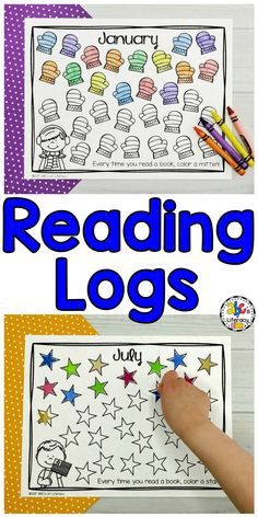 Are you looking for a way to encourage your students to read at home every night? These printable Monthly Reading Logs for kids can be used to motivate children to read independently. There are two sets of reading logs. Your students can track the number of books or the minutes that they read every month. These simple reading logs are perfect for preschool, kindergarten, first grade, or in your homeschool. Click on the picture to learn more! #abcsofliteracy #readinglogs #monthlyreadinglogs