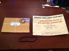 4th Birthday Invitations....Indiana Jones Diary. So cool!