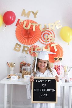 My Future Is Bright - Kindergarten Graduation Party - The Gray Ruby Diaries