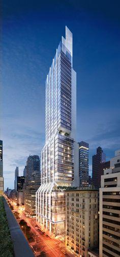 425 Park Avenue, Fachada NE na Park Avenue. Image © DBOX for Foster + Partners