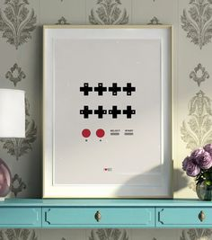 Contra Video Game Cheat Code Print