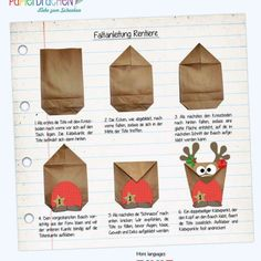Advent calendar DIY set Reindeer for filling - with brown belly for DIY - with 24 bags for individua Diy Christmas Gifts, Christmas Themes, Christmas And New Year, Holiday Crafts, Christmas Holidays, Xmas, Advent Calenders, Diy Advent Calendar, Black Construction Paper