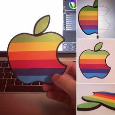 Paper Apple logo