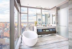 Master bathrooms have evolved into home spas, personal sanctuaries to recharge and face the outside world.