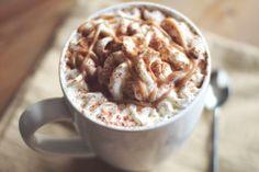 Skinny homemade hazelnut macchiato #coffee #drinks #chocolate
