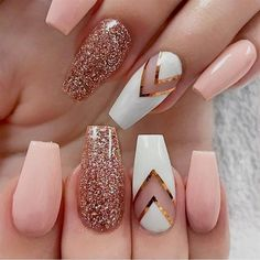 Image result for fall nail designs almond shaped #AcrylicNailDesigns