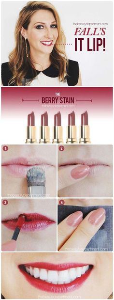 Lipstick Tutorials - Best Step by Step Makeup Tutorial How To - Trendcasting the Thin Lips - Easy and Quick Ways to Apply Lipstick and Awesome Beauty Ideas - Cool Ideas for Teen Makeup for School, Party and Special Occasion - Makeup Tutorials for Beginners - Lip Liner Tips and Tricks to Add Volume, DIY Lip Techniques for Fuller Lips - DIY Projects and Crafts for Teens http://diyprojectsforteens.com/best-lipstick-tutorials