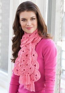 This Hope Scarf is made in groups of triple crochets forming a nicely designed pattern. You can crochet this free pattern in any color you wish, but preferably in a shade of pink to show your support for Breast Cancer Awareness.