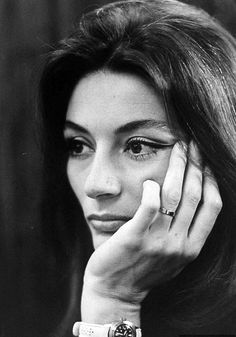 The haunting beauty of Anouk Aimèe, photo by Bill Epperidge, May 1967