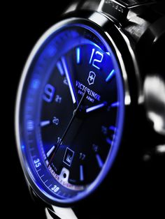 Night Vision from Victorinox Swiss Army Gents Watches, Stylish Watches, Luxury Watches, Cool Watches, Watches For Men, Fine Watches, Tag Heuer, Omega, Swiss Army Watches
