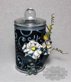@Becky Quach Creations  Couture Creations: Fun Jar by Lesa Bird...love the Black Magic Core'dinations Cardstock!